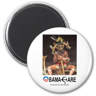 OBAMA CARE 2 INCH ROUND MAGNET