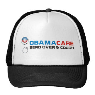 OBAMA CARE BEND OVER AND COUGH TRUCKER HAT