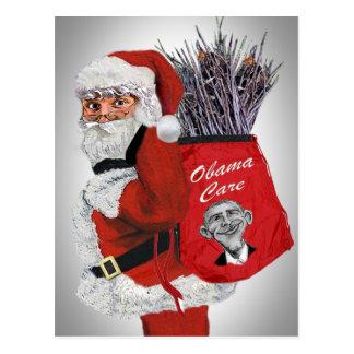 Obama Care Santa Postcards