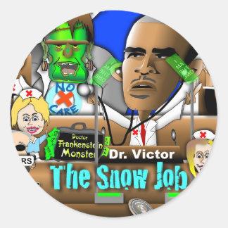 Obama Care Classic Round Sticker
