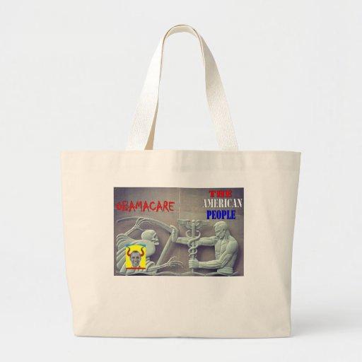 OBAMA CARE vs THE AMERICAN PEOPLE Jumbo Tote Bag