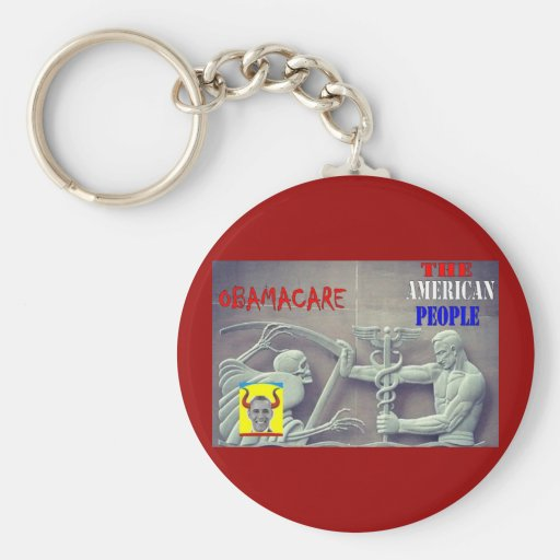 OBAMA CARE vs THE AMERICAN PEOPLE Basic Round Button Keychain