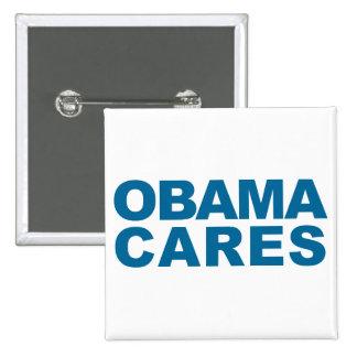 Obama Cares 2 Inch Square Button