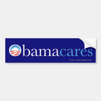 Obama Cares Bumper Sticker Car Bumper Sticker