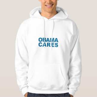 Obama Cares Hooded Pullover