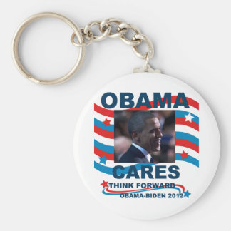 Obama Cares Keychain