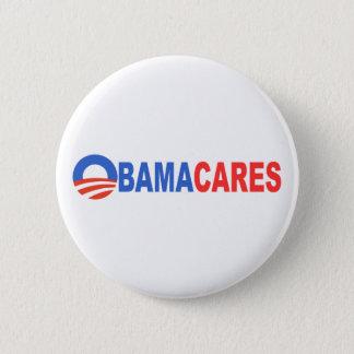 Obama Cares Pinback Button