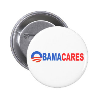 Obama Cares Pinback Button
