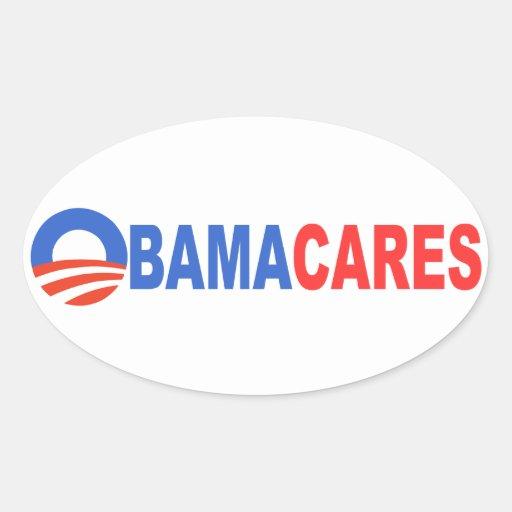 Obama Cares Rectangle Stickers