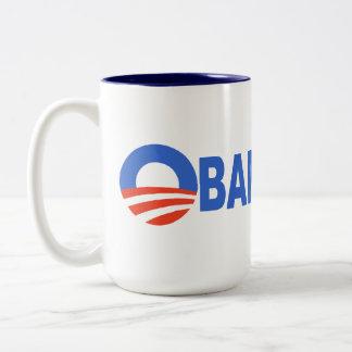 Obama cares Two-Tone coffee mug