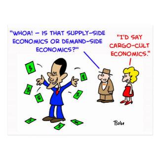 Obama cargo cult economics postcard