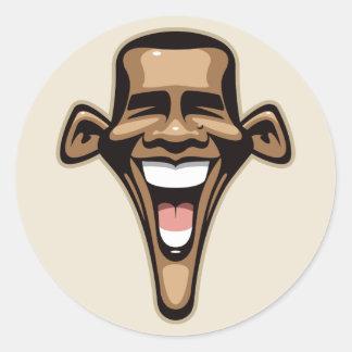 Obama Caricature Classic Round Sticker