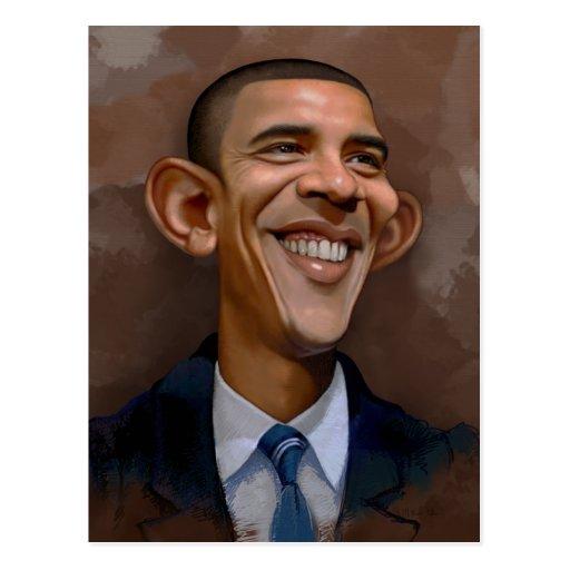 Obama Caricature Post Cards