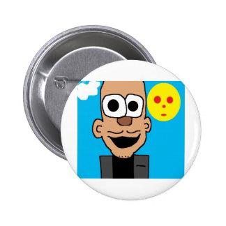 obama cartoon button