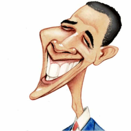 Obama Cartoon Photo Sculpture