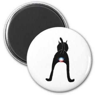 Obama Cat 2 Inch Round Magnet