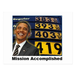 Obama causó altos precios de la gasolina postales