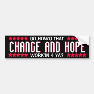 OBAMA - CHANGE AND HOPE BUMPER STICKER