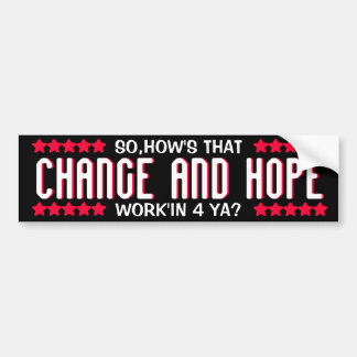 OBAMA - CHANGE AND HOPE BUMPER STICKER CAR BUMPER STICKER