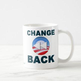 Obama:  Change Back Classic White Coffee Mug