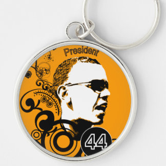 Obama Change BackGround Color Keychain