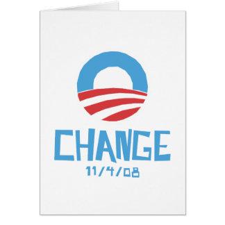 Obama Change Card