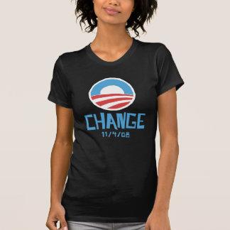 Obama Change Dark Women's T-shirt