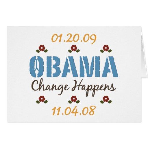 Obama Change Happens Greeting Card