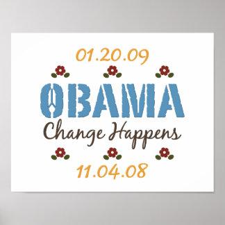 Obama Change Happens Poster