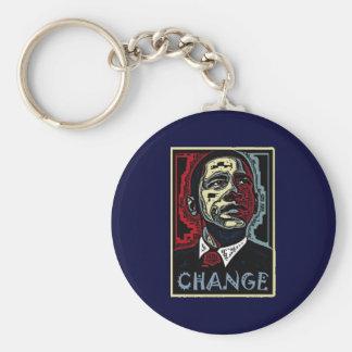 Obama Change Basic Round Button Keychain