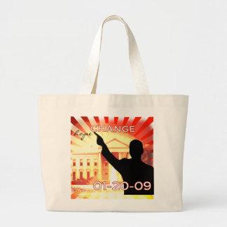 Obama Change Large Tote Bag
