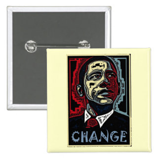 Obama Change Pinback Button