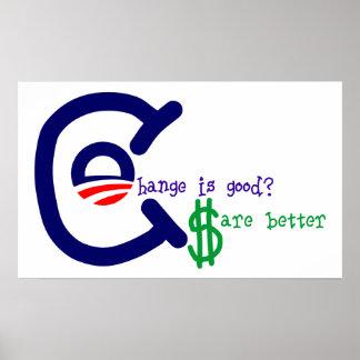 Obama Change Versus Dollars Print