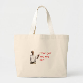 Obama Change Yes We Can Tote Bag