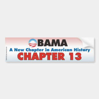 Obama - Chapter 13 Car Bumper Sticker