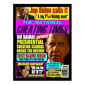 Obama Cheating Post Card