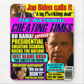 Obama Cheating Scandal Mouse Pad