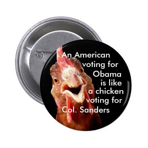 Obama Chicken Colonel Sanders 2 Inch Round Button