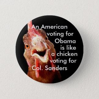 Obama Chicken Colonel Sanders Button