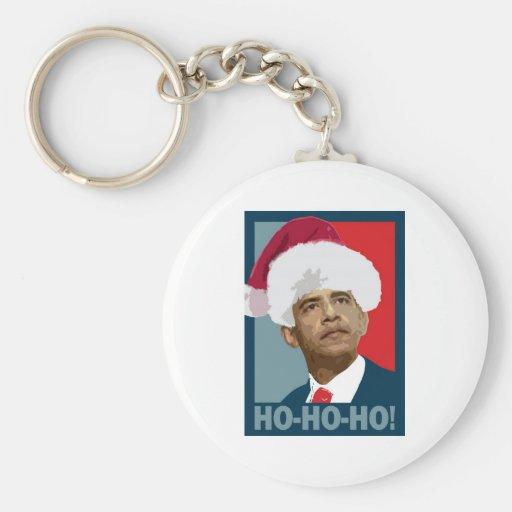 Obama Christmas Ho Ho Ho Keychain