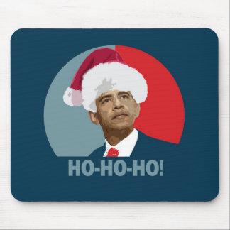 Obama Christmas Ho Ho Ho Mouse Pad