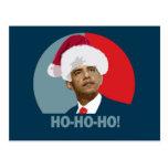 Obama Christmas Ho Ho Ho Post Card