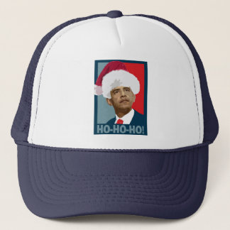 Obama Christmas Ho Ho Ho Trucker Hat