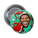 Obama Christmas Pinback Buttons