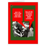 Obama chupa navidad tarjeta