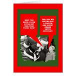 Obama chupa navidad tarjeta de felicitación