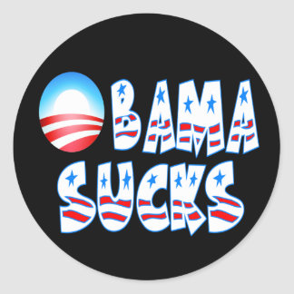 Obama chupa etiquetas redondas