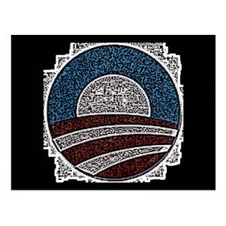Obama Circle Postcard