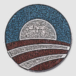 Obama Circle Stickers