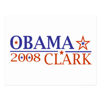 Obama Clark 08 Postcard